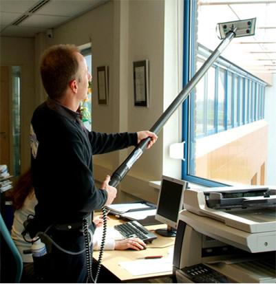 Maximale werkhoogte ladder glazenwasser